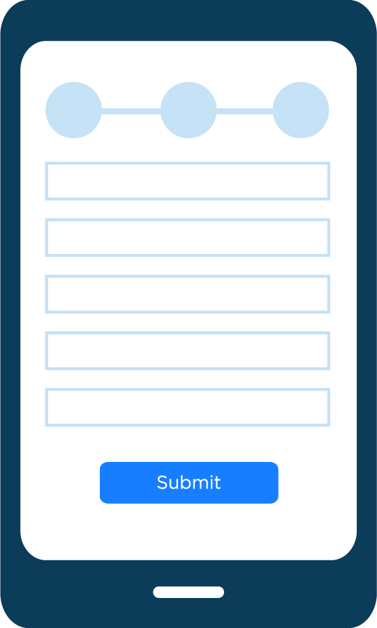 Fill out the required information and upload a photo of your valid ID